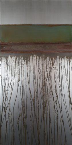 Curtain III, Säurekorrosion auf Stahl, 2020, 100 cm x 60 cm
